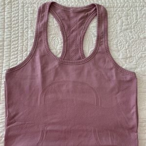 Pink (Mauve) lululemon Racerback Swiftly in Size 6